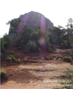 Bell Rock! Gorgeous violet rays stream in.